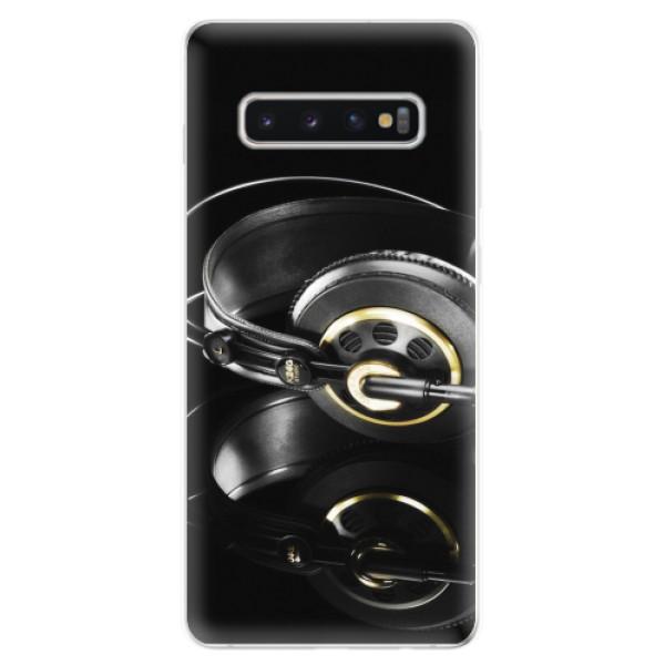 Odolné silikonové pouzdro iSaprio - Headphones 02 - Samsung Galaxy S10+