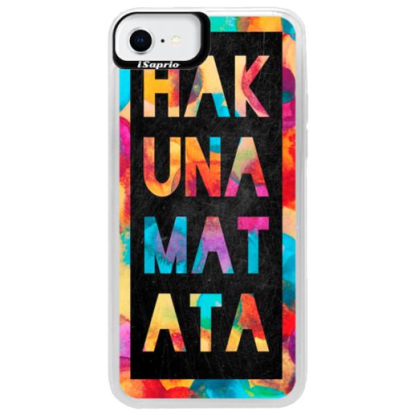 Neonové pouzdro Pink iSaprio - Hakuna Matata 01 - iPhone SE 2020