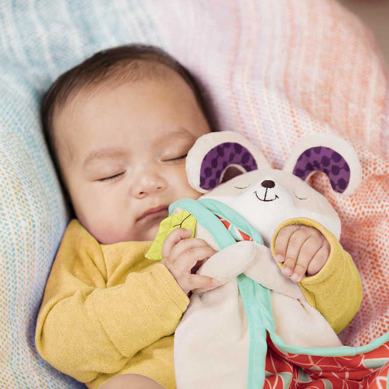 B-TOYS PLYŠ Baby muchláček králíček 32x21cm pro miminko