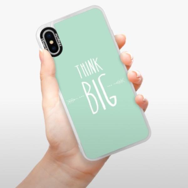 Neonové pouzdro Pink iSaprio - Think Big - iPhone XS