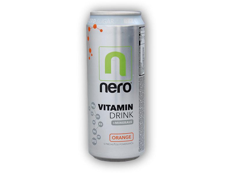 Nero Active nápoj ZERO sugar 330ml-pomeranc