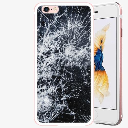 Plastový kryt iSaprio - Cracked - iPhone 6/6S - Rose Gold