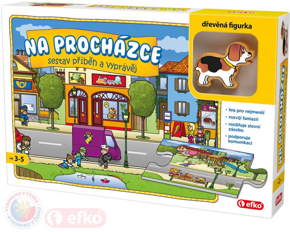 EFKO Hra Na procházce Skládej a vyprávěj příběhy puzzle příběhové 9 dílků