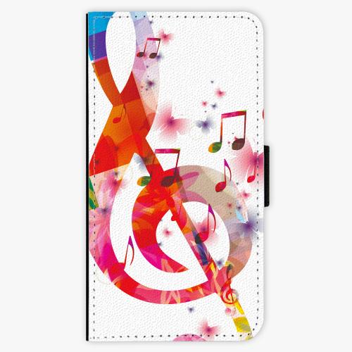 Flipové pouzdro iSaprio - Love Music - Huawei Ascend P8 Lite