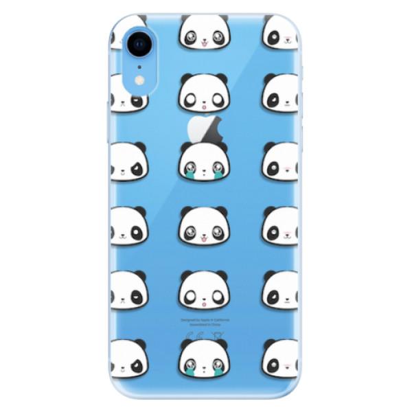 Odolné silikonové pouzdro iSaprio - Panda pattern 01 - iPhone XR