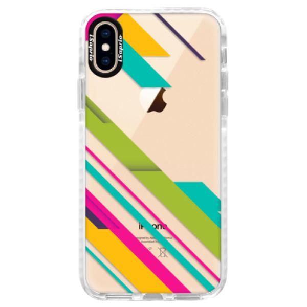 Silikonové pouzdro Bumper iSaprio - Color Stripes 03 - iPhone XS