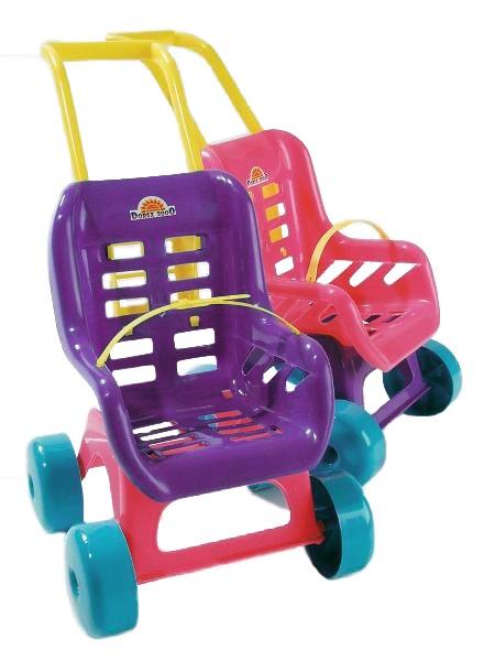 Kočárek pro panenky - fialový - fialová