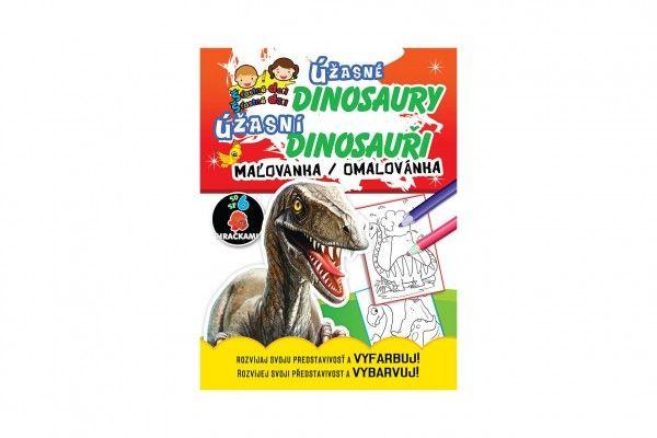 Omalovánky/Maľovanky Úžasné dinosaury/dinosauri CZ + SK