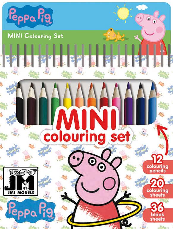 JIRI MODELS Set mini blok + pastelky Peppa Pig