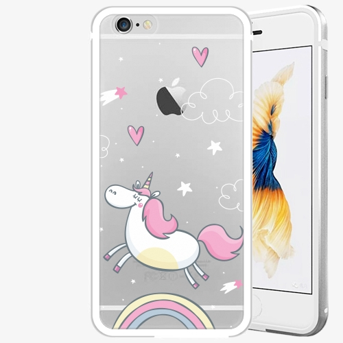 Plastový kryt iSaprio - Unicorn 01 - iPhone 6 Plus/6S Plus - Silver