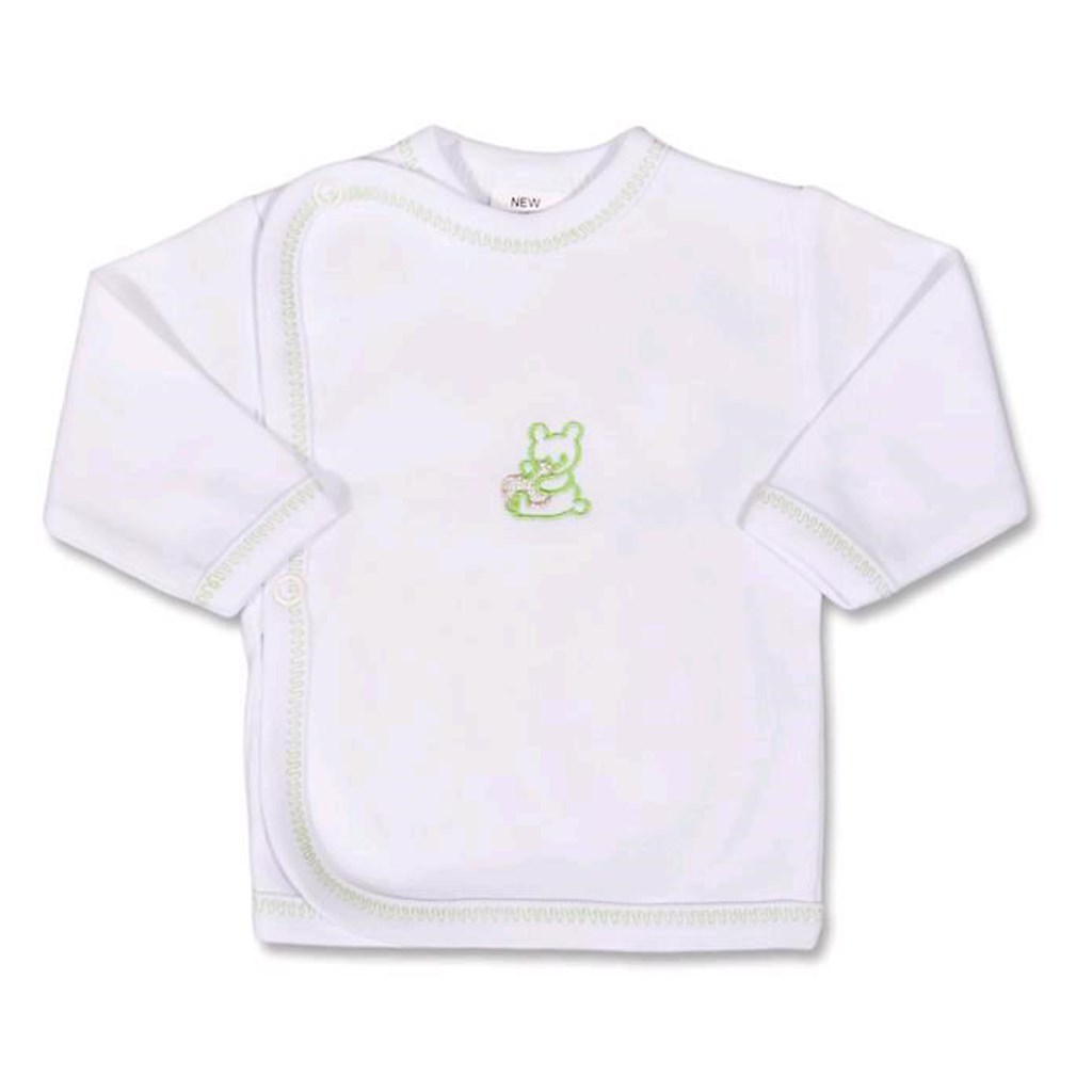Kojenecká košilka s vyšívaným obrázkem New Baby - zelená/68 (4-6m)