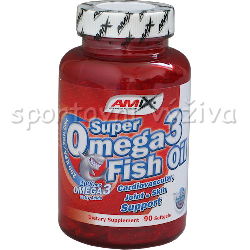 Super Omega 3 Fish Oil 1000mg 90 kapslí