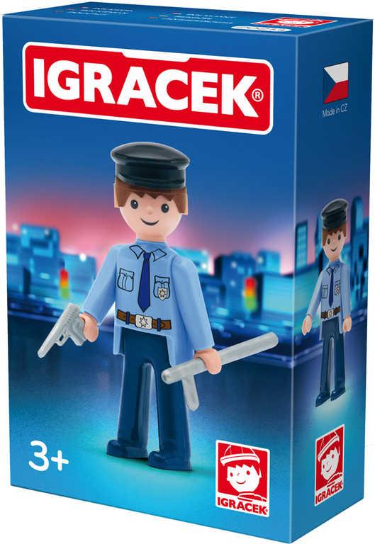 EFKO IGRÁČEK Policista set s doplňky v krabičce STAVEBNICE