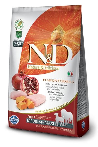 N&D GF Pumpkin DOG Adult M/L Chicken&Pomegranate 2,5kg