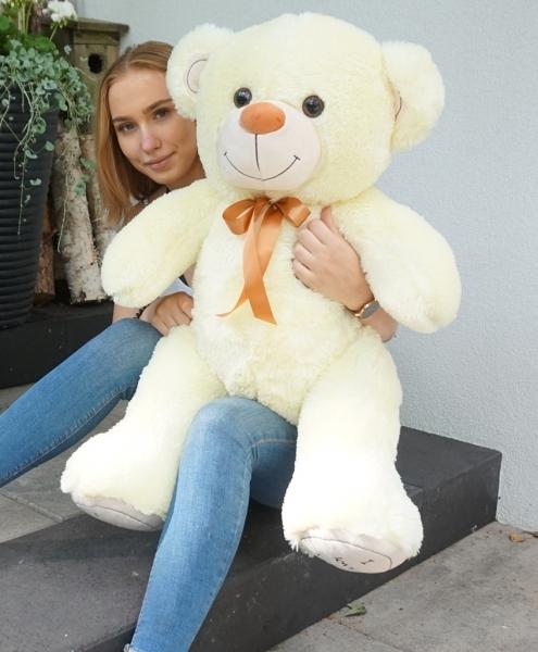 Baby Nellys Plyšový medvěd 120cm - citronek