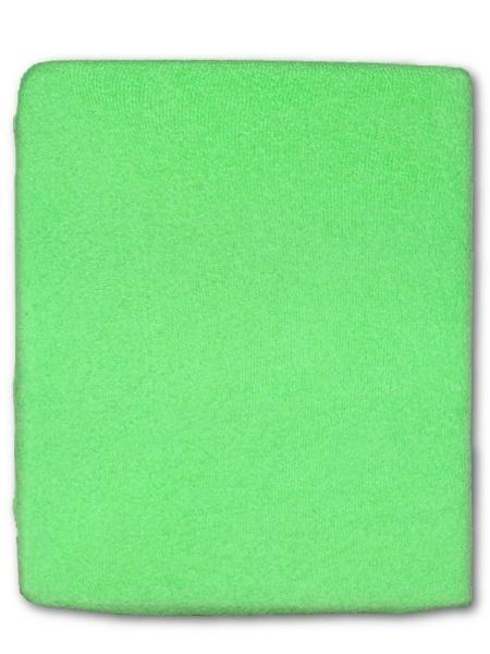 Froté prostěradlo do postýlky - zelená