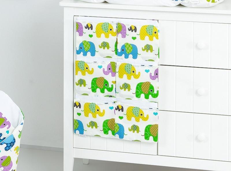 Kapsář 40 x 65 cm - Sloni zelení