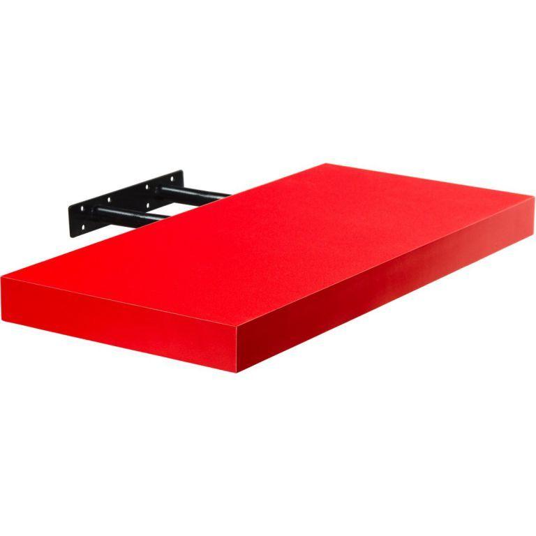 Stilista nástěnná police Volato, 100 cm, červená