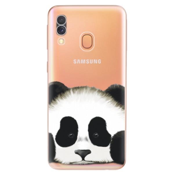 Odolné silikonové pouzdro iSaprio - Sad Panda - Samsung Galaxy A40