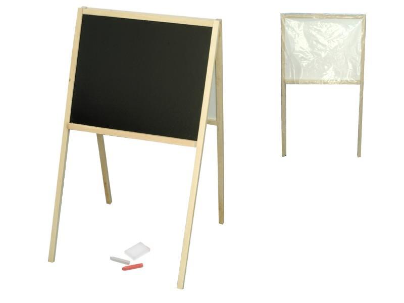 Tabule dřevěná oboustranná 82 x 47,5 x 50 cm
