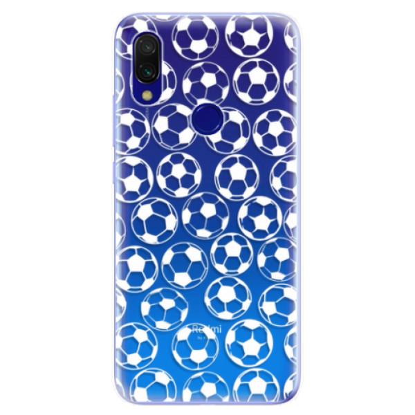 Odolné silikonové pouzdro iSaprio - Football pattern - white - Xiaomi Redmi 7