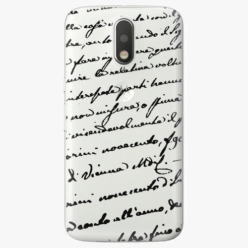 Plastový kryt iSaprio - Handwriting 01 - black - Lenovo Moto G4 / G4 Plus