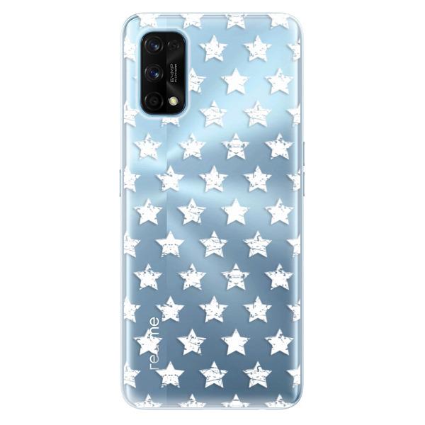 Odolné silikonové pouzdro iSaprio - Stars Pattern - white - Realme 7 Pro