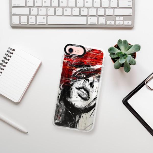 Silikonové pouzdro Bumper iSaprio - Sketch Face - iPhone 7