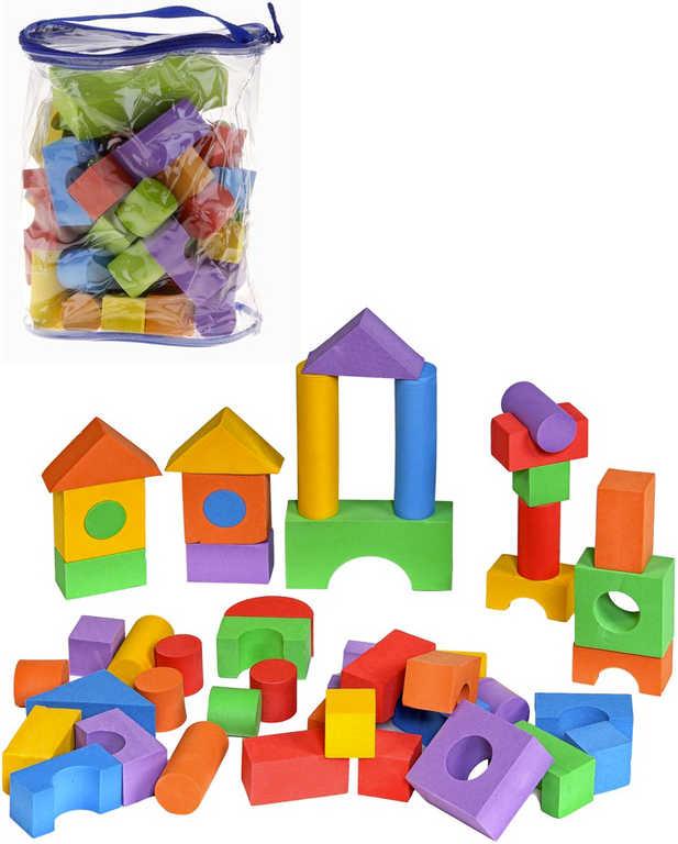 Baby kostky soft pěnové barevné set 50 ks v igelitovém pytlíku