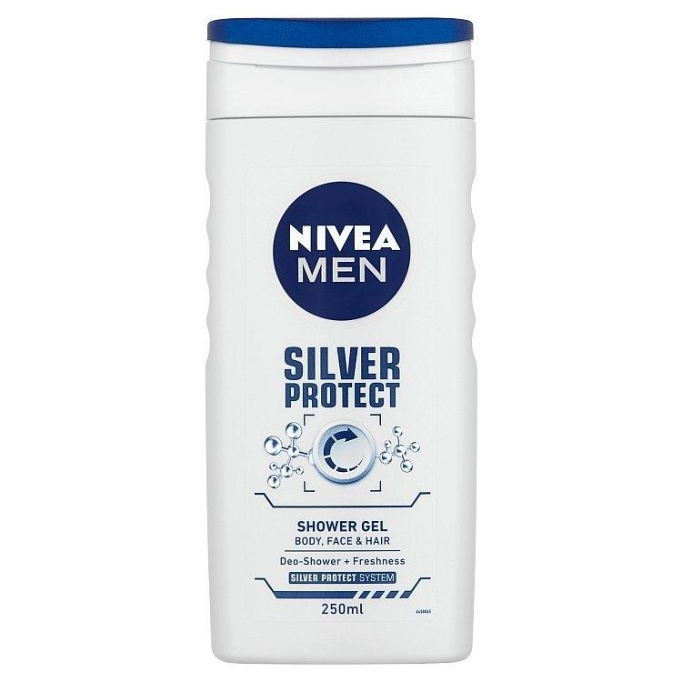 Men Silver Protect sprchový gel na tělo, tvář a vlasy 250 ml