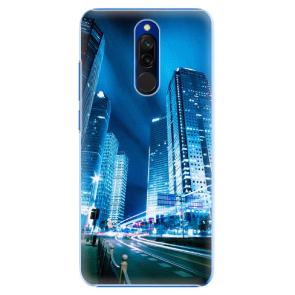 Plastové pouzdro iSaprio - Night City Blue - Xiaomi Redmi 8