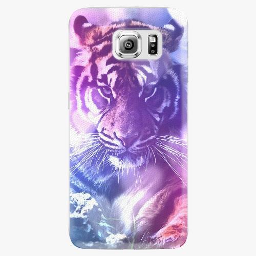 Plastový kryt iSaprio - Purple Tiger - Samsung Galaxy S6 Edge