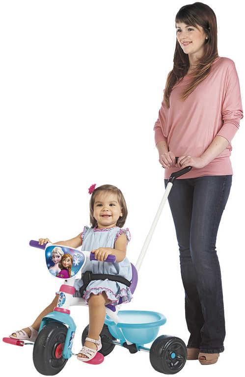 SMOBY Baby tříkolka šlapací Be Move 68x52x52cm Frozen s vodící tyčí 2v1