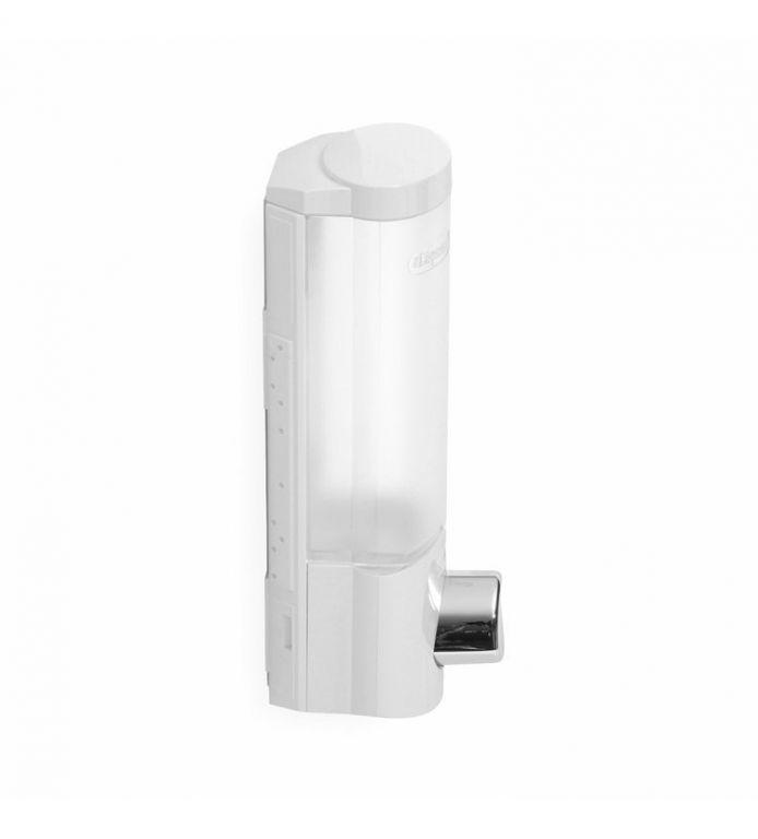 Dávkovač Compactor Uno mýdla / šampónu na zeď, bílý 360ml