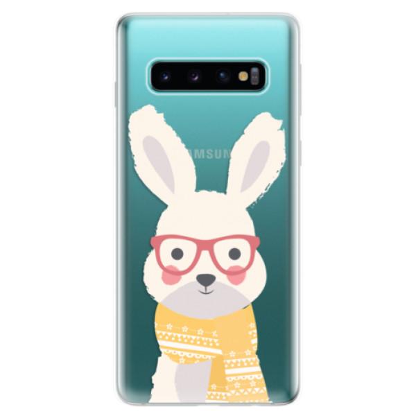 Odolné silikonové pouzdro iSaprio - Smart Rabbit - Samsung Galaxy S10