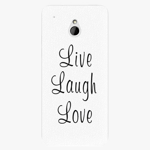 Plastový kryt iSaprio - Live Laugh Love - HTC One Mini