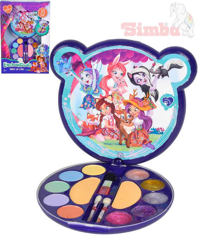 SIMBA Enchantimals Make-Up dětská kosmetika set s očními stíny a leskem na rty