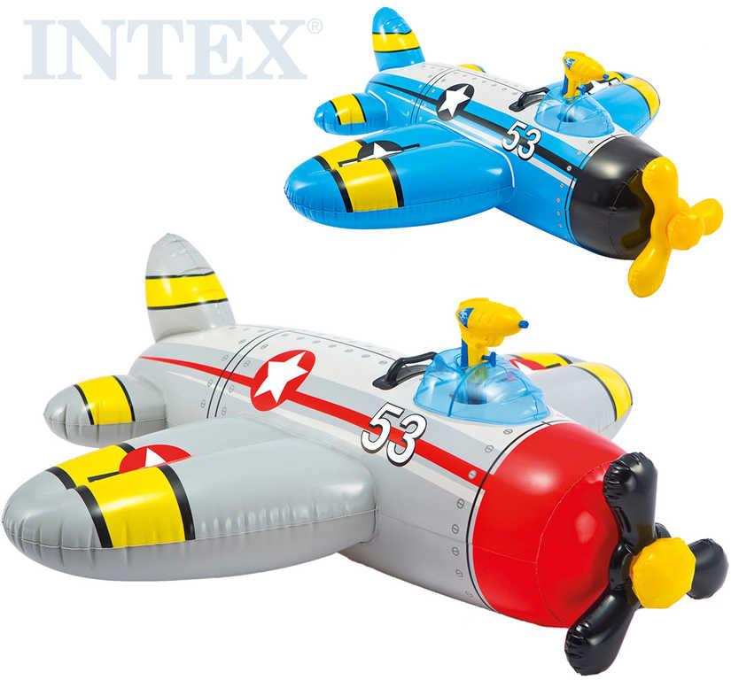 INTEX Dětské plavidlo letadlo 132x130cm vozidlo s vodní pistolí 2 barvy 57537