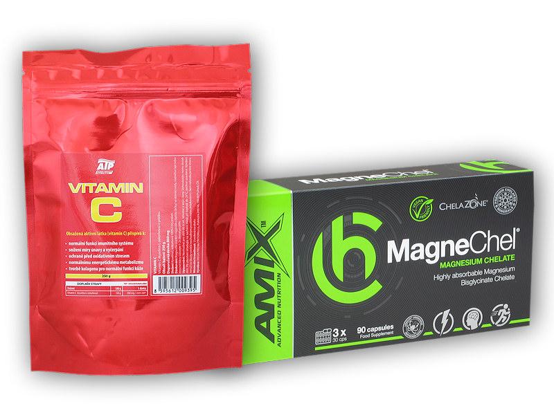 MagneChel 90 Vcps + Vitamin C 250g