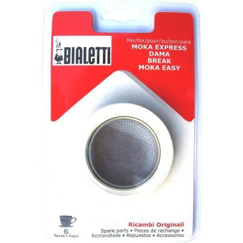 Sada: 3 gumové těsnění + 1 sítko pro hliníkové kávovary