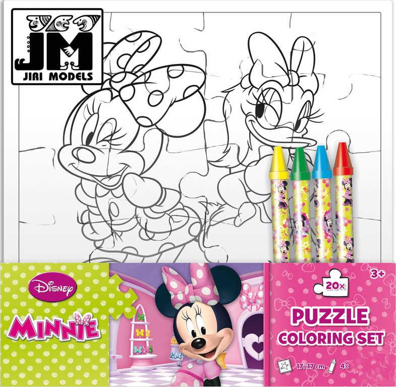 JIRI MODELS Omalovánky puzzle s voskovkami Disney Minnie Mouse