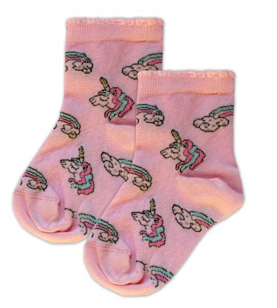 Baby Nellys Bavlněné ponožky Jednorožči