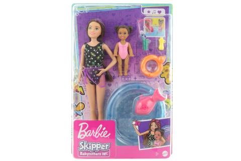 Barbie Chůva herní set - s bazénkem GRP39