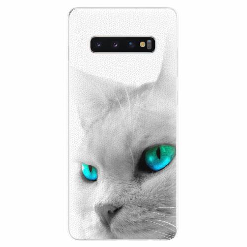 Silikonové pouzdro iSaprio - Cats Eyes - Samsung Galaxy S10+