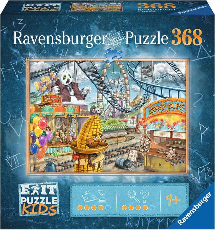 RAVENSBURGER Kids Hra puzzle únikové Zábavní park 368 dílků 70x50cm skládačka 2v1