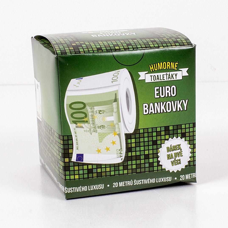 Toaleťák - jako euro bankovka
