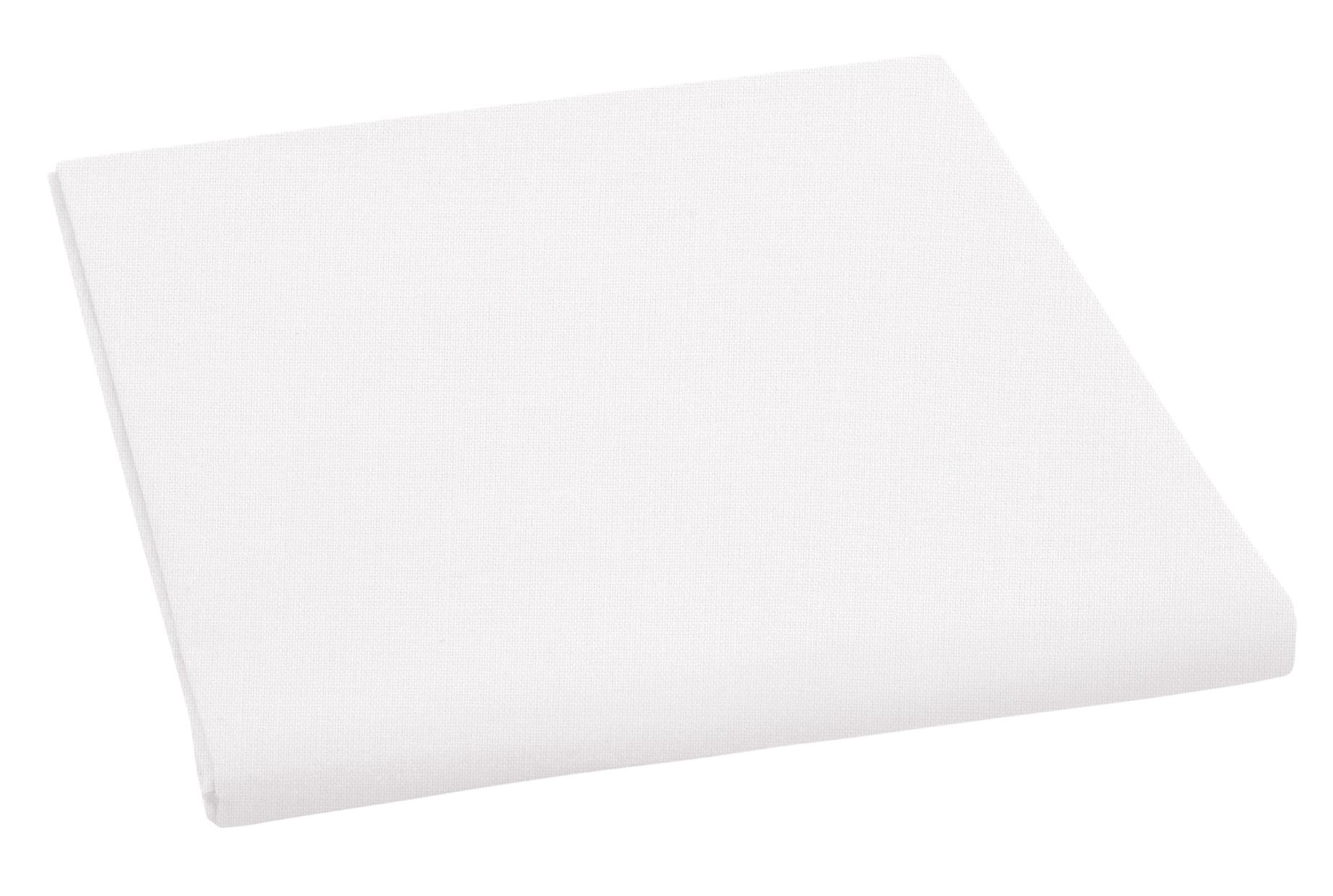 Prostěradlo bavlněné jednolůžkové 150x230cm bílé