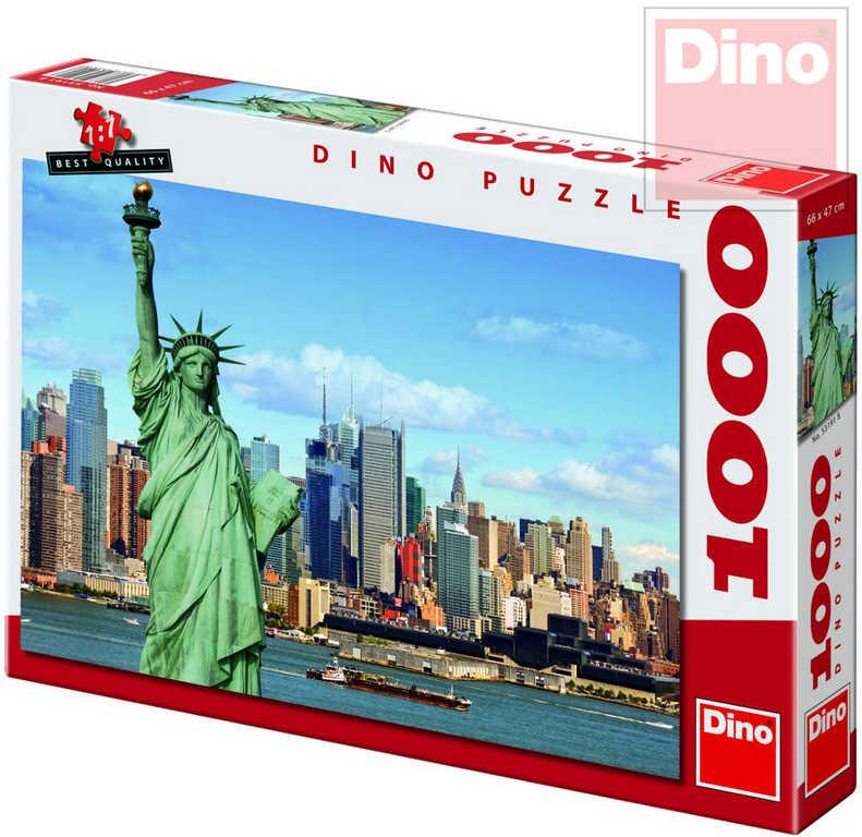 DINO Puzzle 1000 dílků Socha Svobody 66x47cm skládačka v krabici