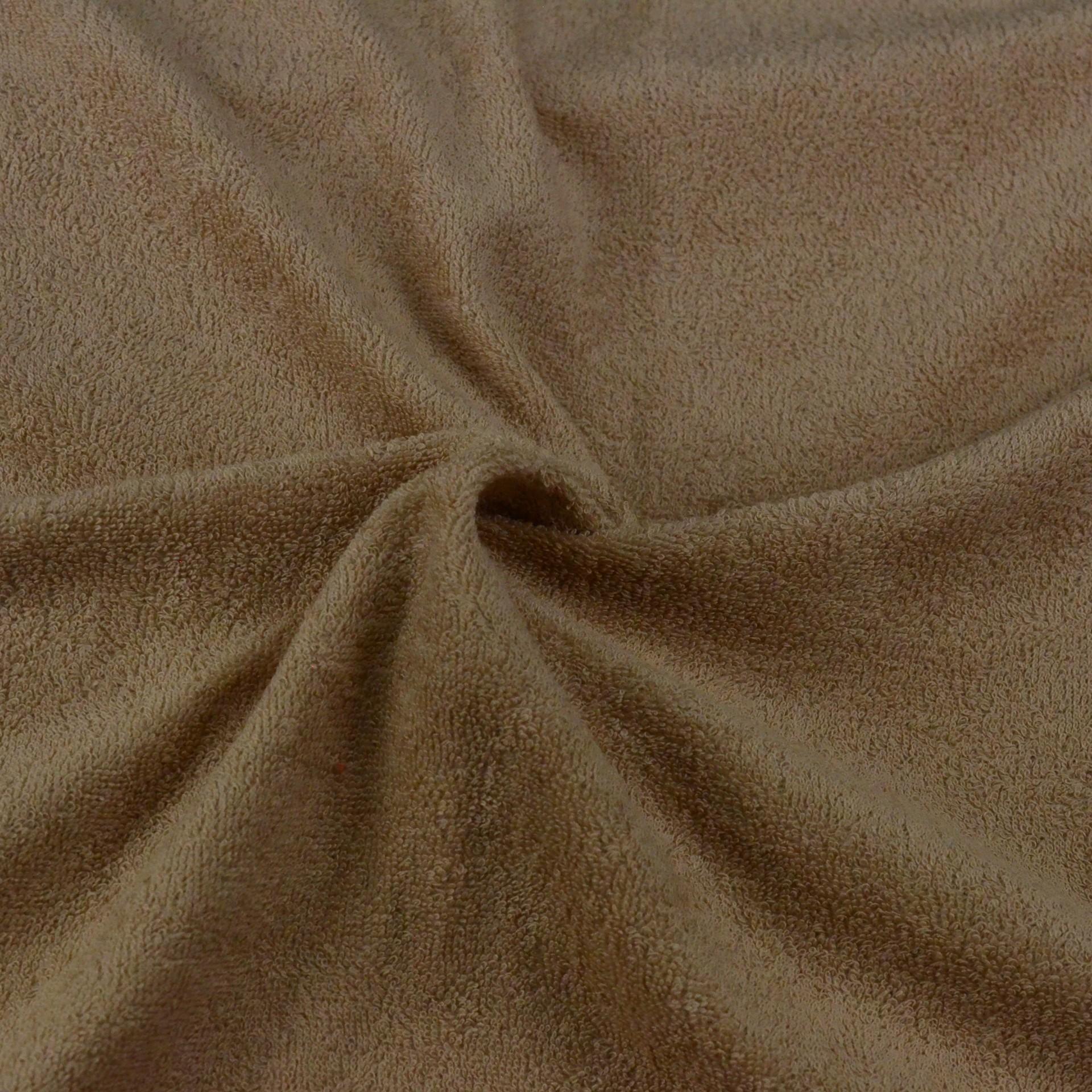 Froté prostěradlo béžové, Výběr rozměru - 120x200cm