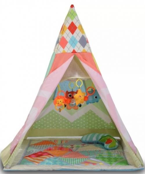 Moni Dětská hrací podložka Baby Teepee, červená